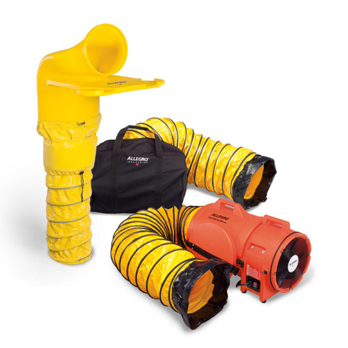 """Allegro 9520-46M 12"""" Axial DC Plastic Blower System w/ 12"""" MVP (9546 Blower)"""