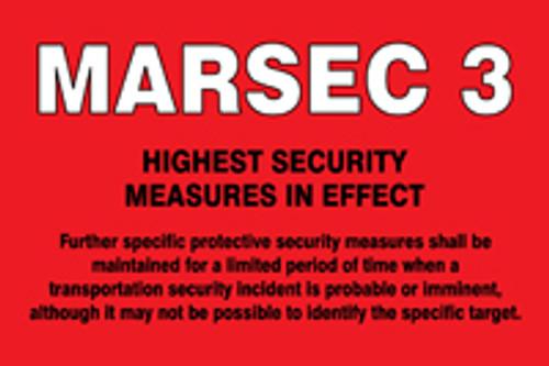 MARSEC3 Sign, MASE543AS