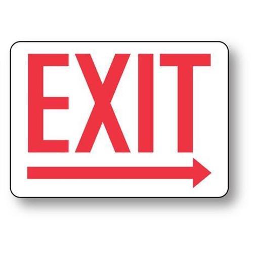 Exit (Arrow Right) - Adhesive Vinyl - 10'' X 14''