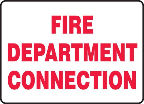 Fire Department Connection - .040 Aluminum - 7'' X 10''