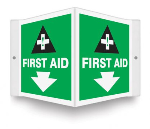 First Aid Sign 3D Green