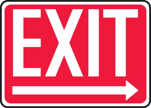 Exit (Arrow Right) - Plastic - 10'' X 14'' 1