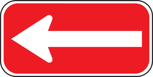 White and Red Arrow Sign