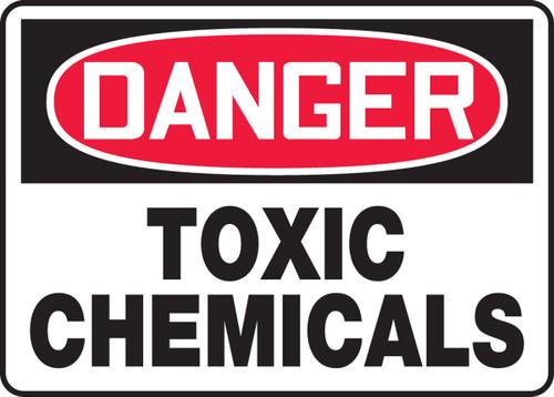Danger - Toxic Chemicals - Adhesive Vinyl - 10'' X 14''