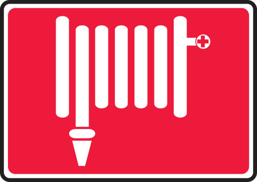 Fire Hose Symbol - Re-Plastic - 7'' X 10''