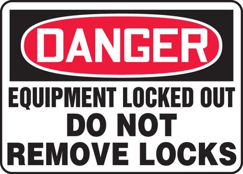 Danger - Equipment Locked Out Do Not Remove Locks
