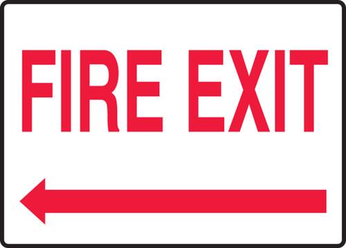 Fire Exit (Arrow Left) - Dura-Plastic - 7'' X 10''