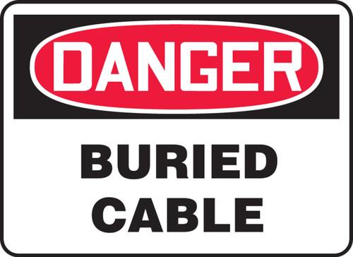 Danger - Buried Cable - .040 Aluminum - 14'' X 20''