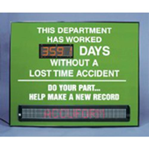 Safety Message Digital Scoreboard Sign
