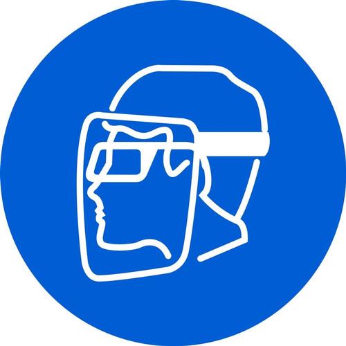 Wear Face Shield & Eye Protection - Plastic - 6''