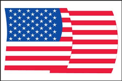 US Flag Label- Patriotic Labels