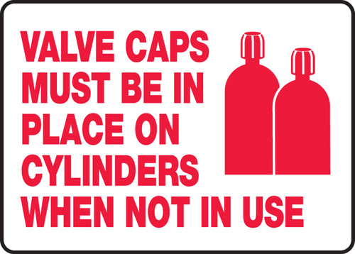 Valve Caps Must Be In Place On Cylinders When Not In Use