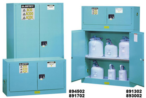 Justrite Safety Cabinet for Corrosives- 60 gallon