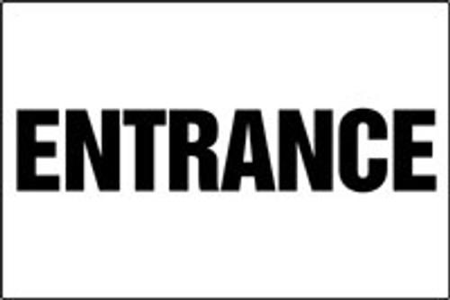 Entrance Sign- black- white
