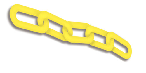 Chain Links Plastic- Yellow- Sold by the foot