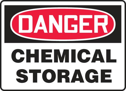 Danger Chemical Storage Sign MCHL155VS