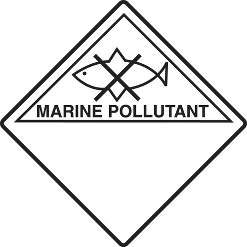 Marine Pollutant Shipping Label