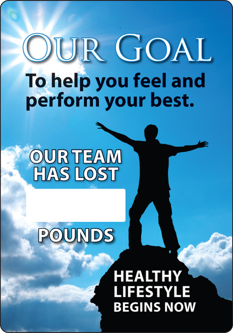 Work Healthy Write A Day Pounds Lost Scoreboard Aluminum 1