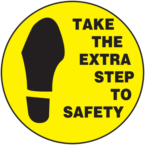 Take The Extra Step To Safety Hard Hat Decals