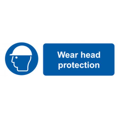 Wear Head Protection - Adhesive Vinyl - 6''
