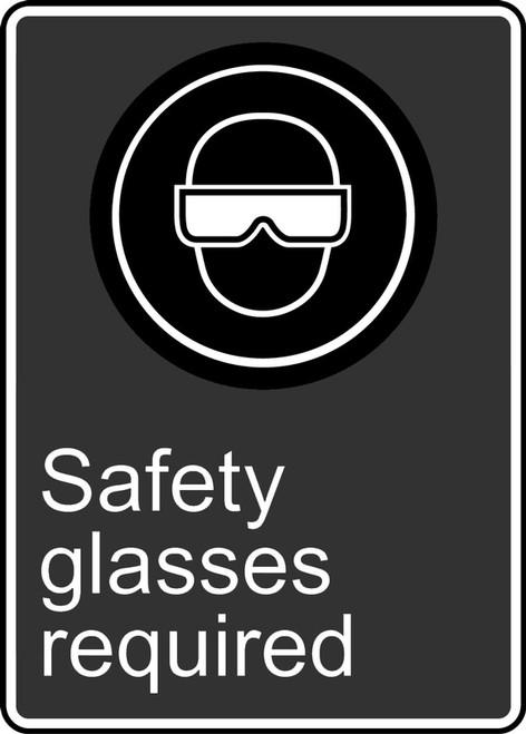 Safety Glasses Required (Lunettes De Securite Obligatoires) - Plastic - 14'' X 10''