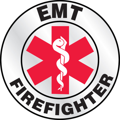 """Emt Firefighter Helmet Label- 2 1/4"""" Priced By The Each"""