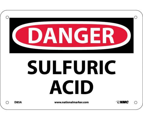 Danger - Sulfuric Acid - .040 Aluminum - 10'' X 14''