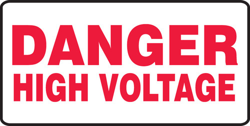 Danger - High Voltage - Dura-Fiberglass - 14'' X 20''