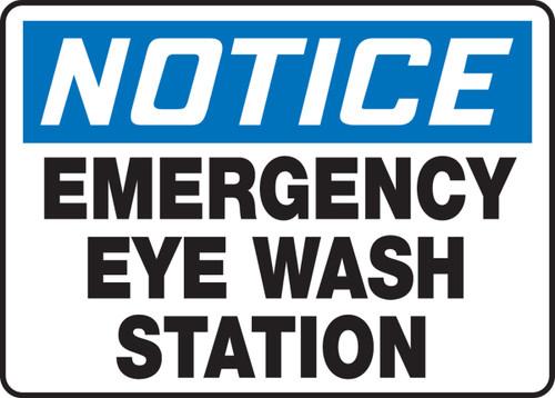 Notice - Emergency Eye Wash Station