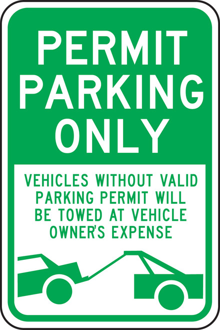 FRP234RA Permit Parking Only Sign