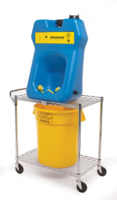 Speakman SE-4380 Portable Gravity fed eyewash (SE-4320) with Transport Cart and Bucket