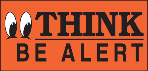 Think Be Alert Label (w/graphic)