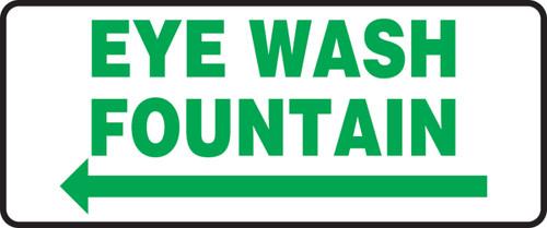 Eye Wash Fountain Sign