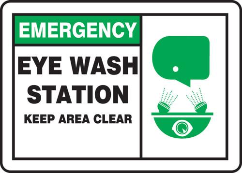 Eye Wash Station Keep Area Clear