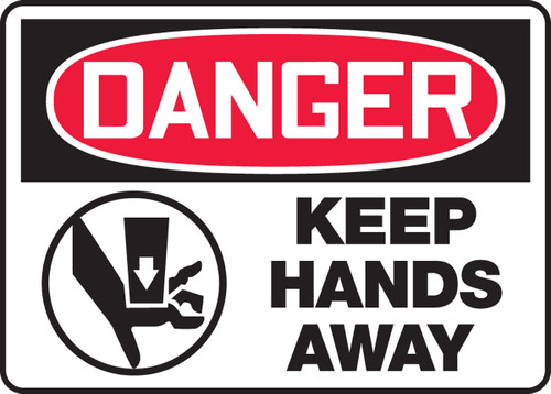 Danger - Keep Hands Away Sign with Graphic
