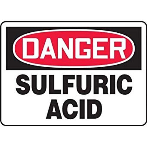 Danger - Sulfuric Acid - Dura-Fiberglass - 10'' X 14''