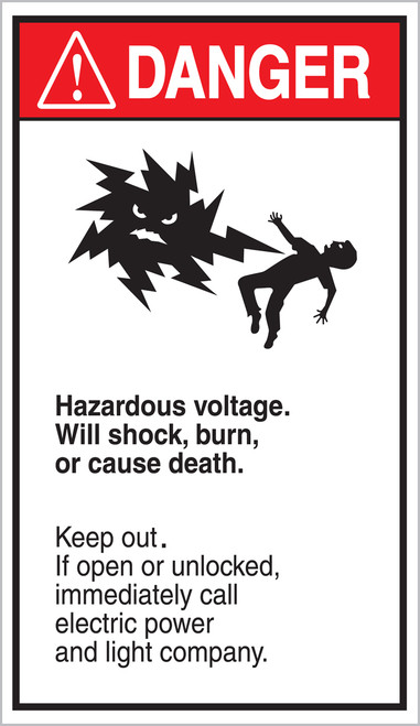 Hazardous Voltage. Will Shock, Burn Or Cause Death. Keep Out