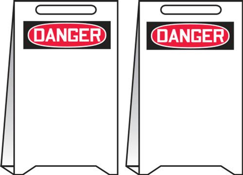 Danger Reversible Fold Ups Sign