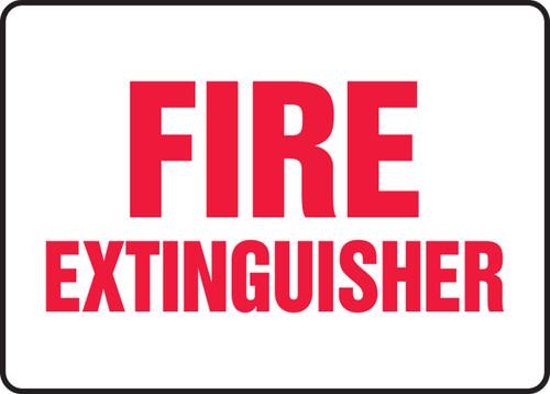 Fire Extinguisher - Adhesive Dura-Vinyl - 7'' X 10''