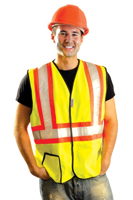 Safety Vest Class 2 Solid Two Tone