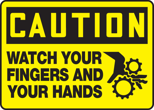 Caution - Watch Your Fingers And Your Hands Sign