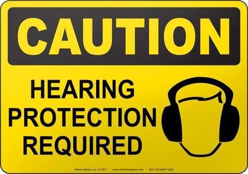 Wear Hearing Protection - .040 Aluminum - 6''