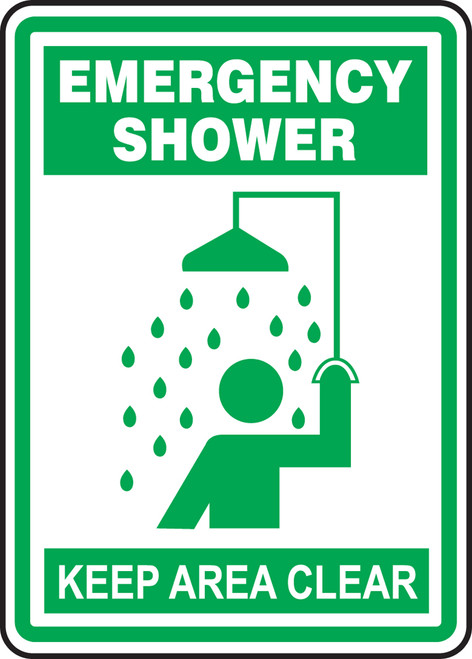 Emergency Shower Keep Area Clear