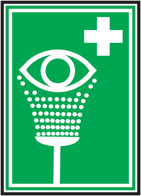 Eyewash Iso - Dura-Fiberglass - 10'' X 7''