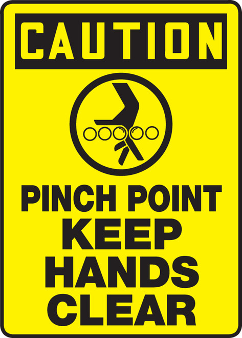 Caution - Pinch Point Keep Hands Clear Sign