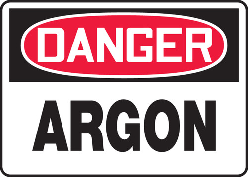 Danger - Argon - Accu-Shield - 10'' X 14''
