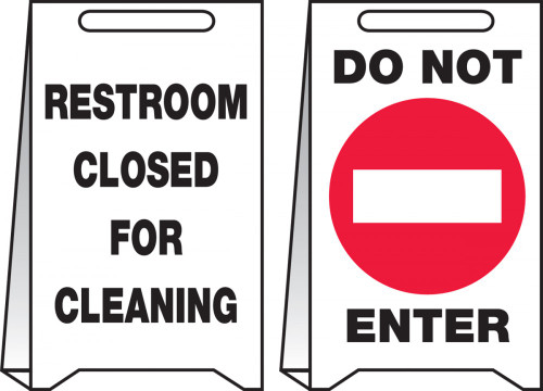 Do Not Enter Restroom Closed For Cleaning Pop Up Floor Sign