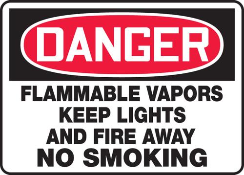 Danger - Flammable Vapors Keep Lights And Fire Away No Smoking