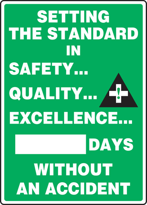 Write A Day Safety Scoreboard 20x14 Aluminum 4