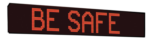 Outdoor Electronic Message Display- Two Line Format 46 Inches Long Amber